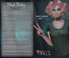 VINYL - Black Friday Sale & Cyber Monday Sale
