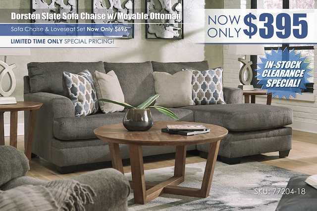 Dorsten Slate Sofa Chaise wMovable Ottoman_InStockSpecial_77204-18-MOOD-H