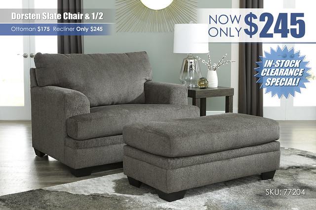 Dorsten Slate Chair & Half Special_77204-23-14_Update