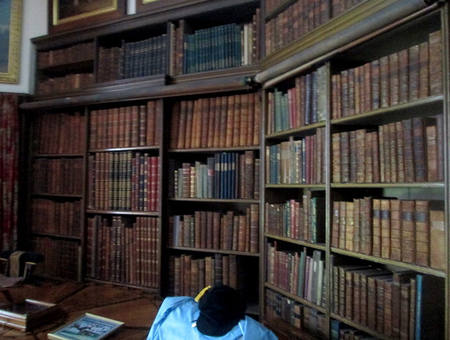 library, study, Calke Abbey, National Trust