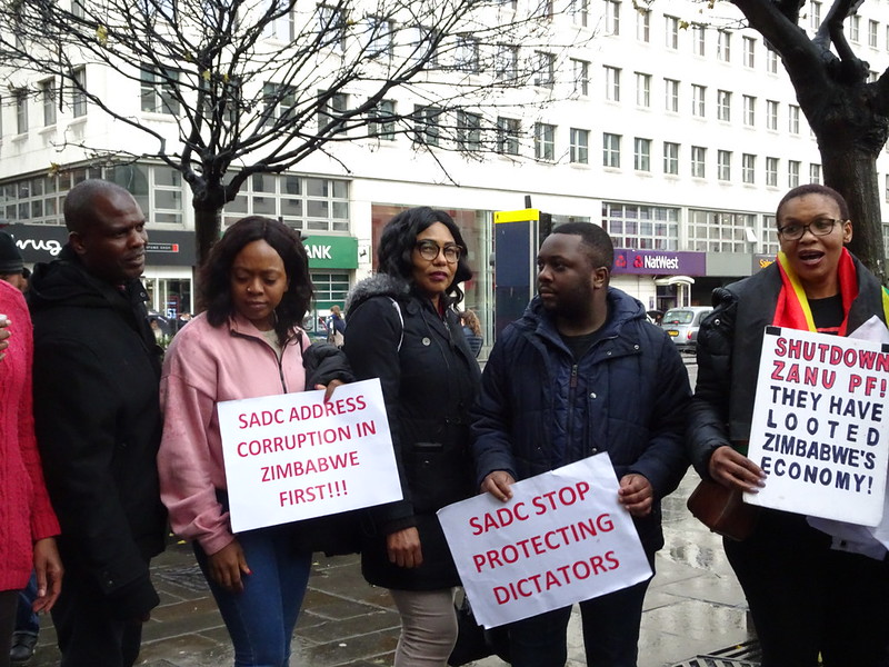 #SaveZimbabwe Protest Zim Embassy 27 Nov 2019(795)