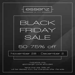 Essenz - Black Friday Sale