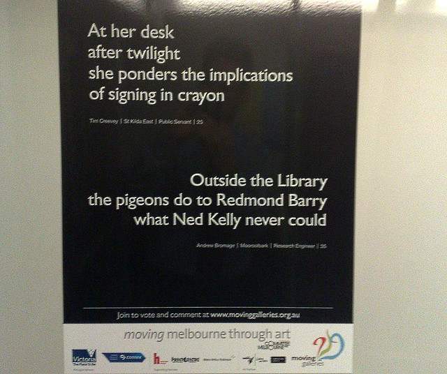 Poetry on a train, November 2009