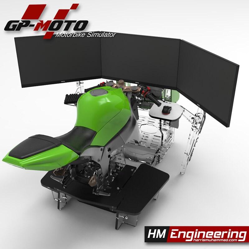 HM Engineering GP-Moto Sport Motorbike Simulator