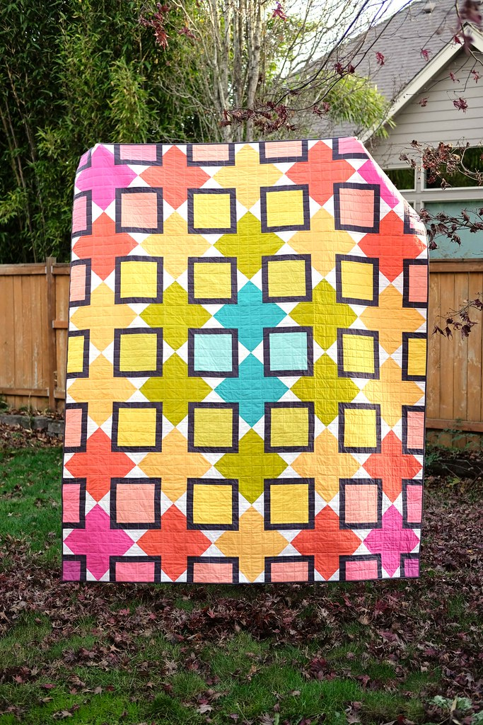 A Rainbow Mary Quilt - Kitchen Table Quilting