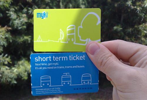 Myki and short term tickets, November 2009