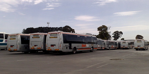 Smartbuses in the depot, November 2009