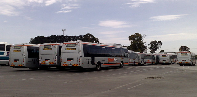 Smartbuses in the depot, November 2009