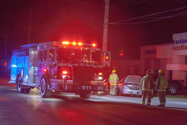 Vehicle vs Pole collision on King Street in Beamsville