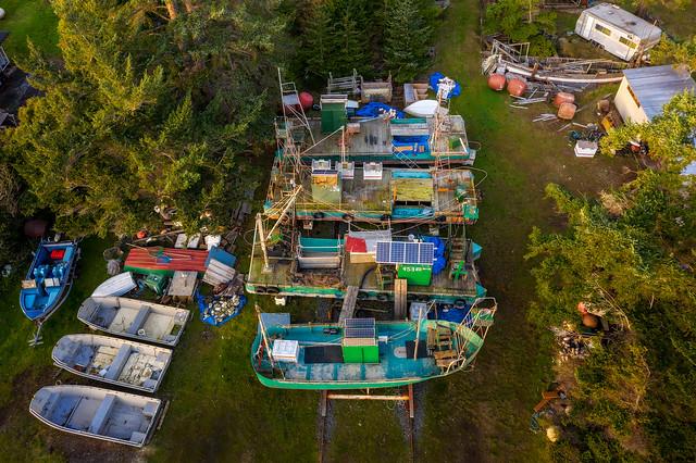 Historic Reefnet Fleet, Lummi Island, Washington