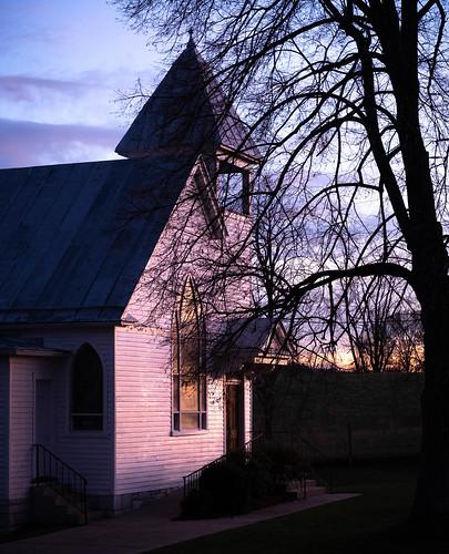 virginia dusk otterbeinchapel sunset church chapel mountjackson unitedstatesofamerica