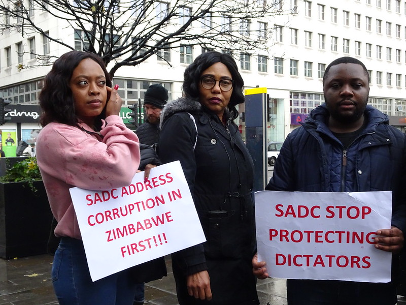 #SaveZimbabwe Protest Zim Embassy 27 Nov 2019(791)
