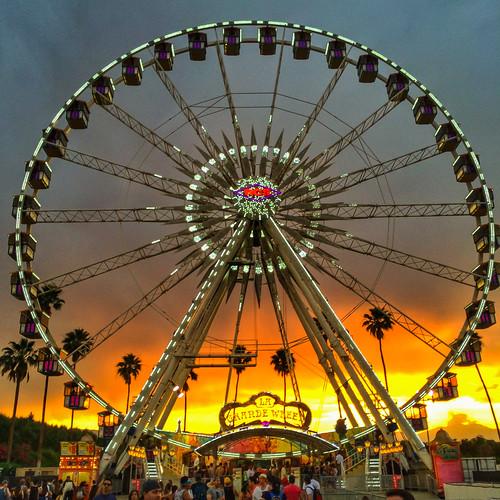 america california coachella coachella2014 ferriswheel indio usa unitedstates unitedstatesofamerica sunset fav10 fav25