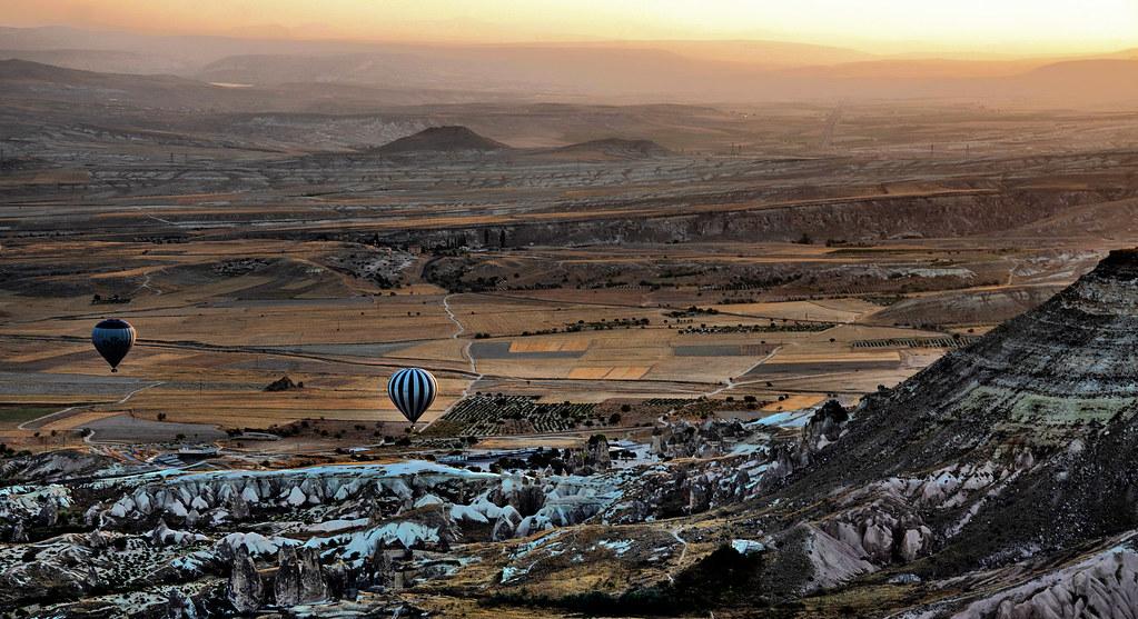 Hot-air balloon morning ride at Cappadocia Devrent Valley Turkey
