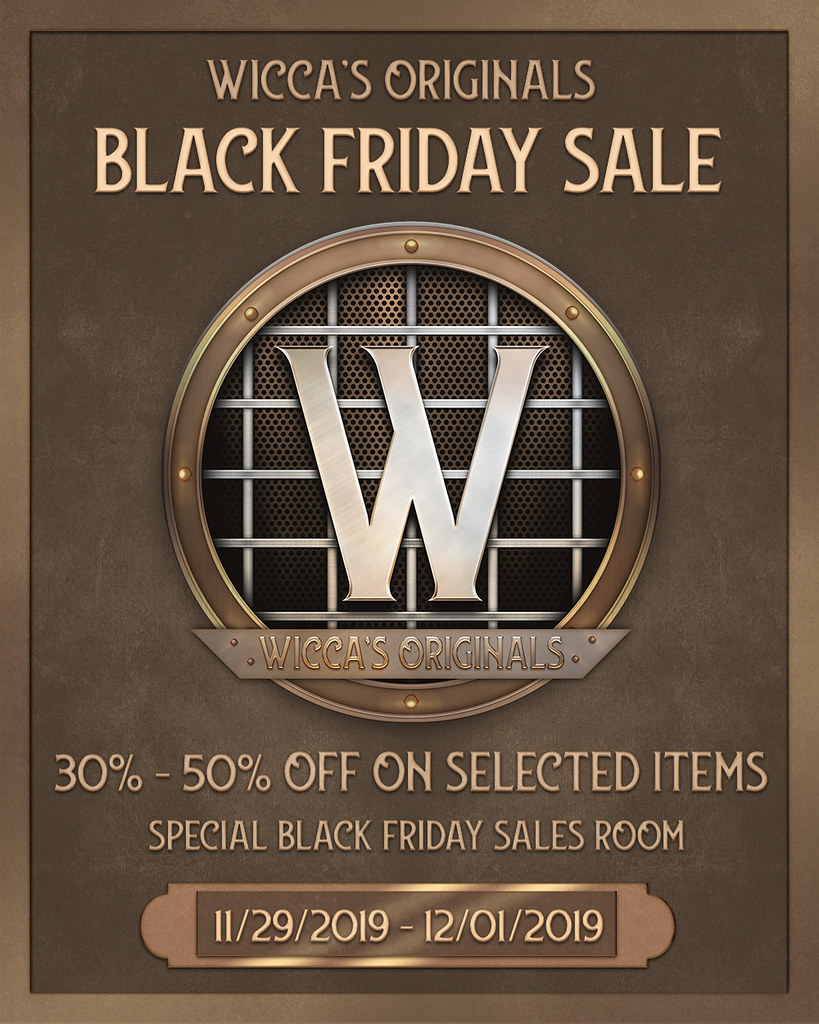 Wicca's Originals - Black Friday Sale 2019