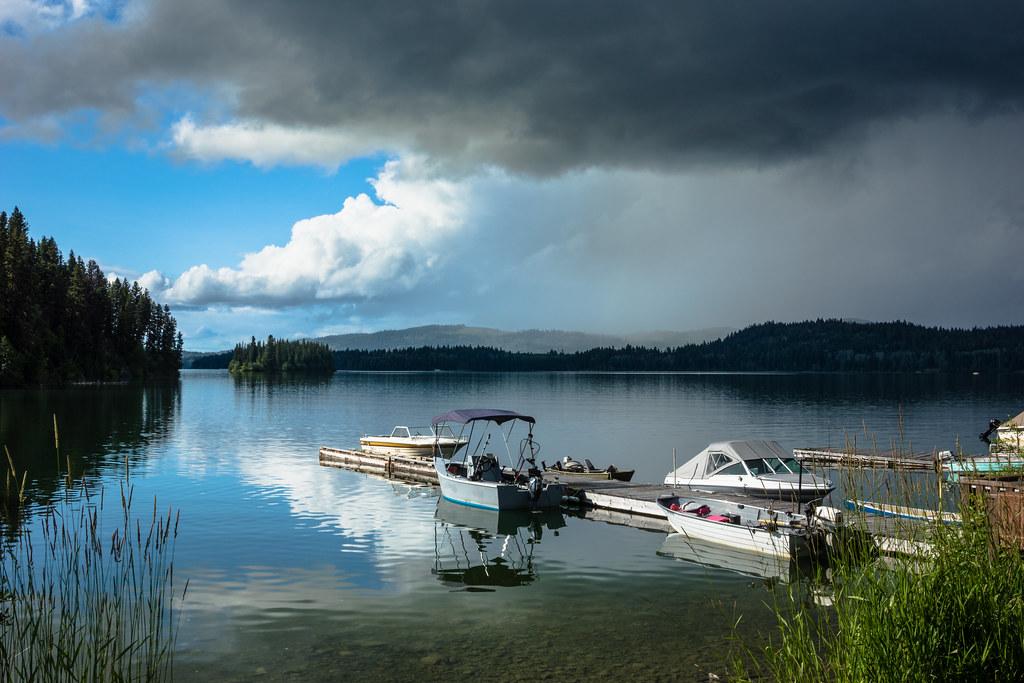 Late afternoon at Cottonwood Bay, Bridge Lake (Image 1)
