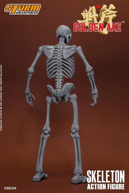 沒血沒肉依然很難纏!STORM COLLECTIBLES《戰斧》骷髏戰士 1/12 可動人形(SKELETON TWO PACKS - GOLDEN AXE ACTION FIGURE)