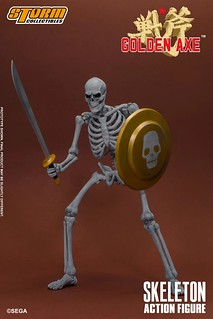 沒血沒肉依然很難纏!STORM COLLECTIBLES《戰斧》骷髏戰士 1/12 可動人形(SKELETON TWO PACKS - GOLDEN AXE ACTION FIGURE)
