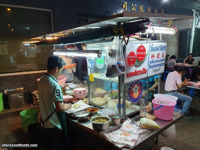 Bangkok Michelin Fishball Noodles stall