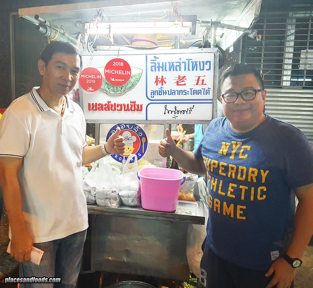 Bangkok Michelin Fishball Noodles Lim Lao Ngow owner
