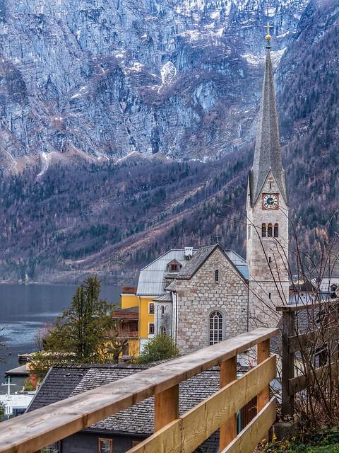 The beautiful Protestant Church of Hallstatt