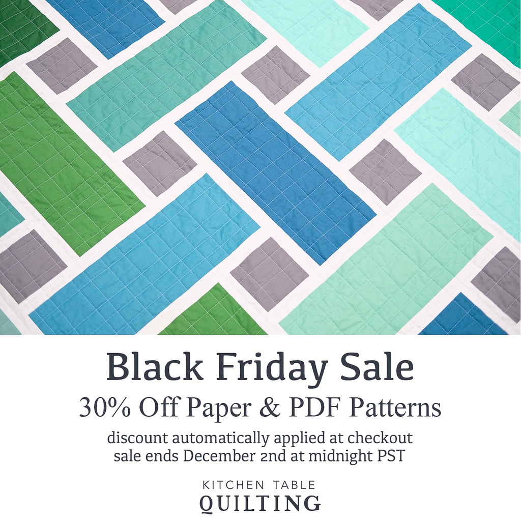 Black Friday Sale - Kitchen Table Quilting