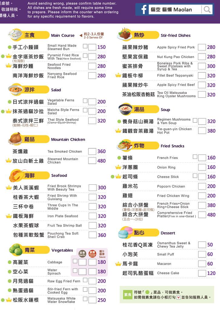 台北貓空貓懶MAOLAN菜單價位訂位低消menu餐點推薦下午茶咖啡 (2)