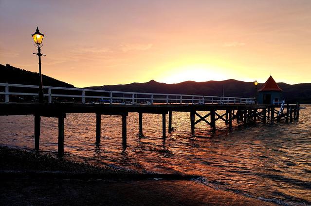 Dalys wharf  Akaroa.