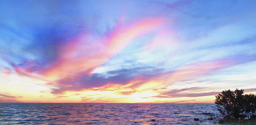 sunset pastel pink clouds nature weather beach water