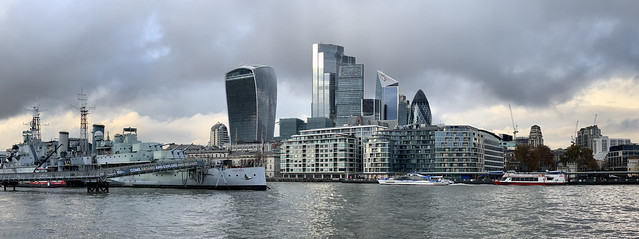 City of London from the south bank of the Thames