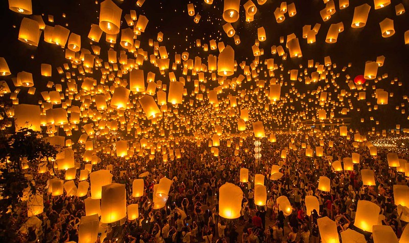 Where To See Chiang Mai Yee Peng (Yi Peng) Mass Sky Lantern Event 2017