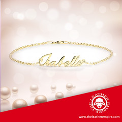 Dainty Name Bracelet Gold Plated
