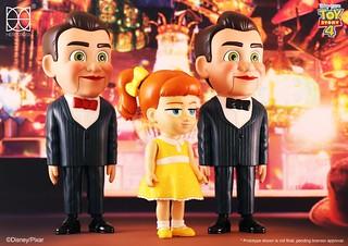 古董店女王與兩位忠僕登場! HEROCROSS HVS 系列《玩具總動員4》蓋比蓋比 & 阿本 Gabby Gabby & The Bensons