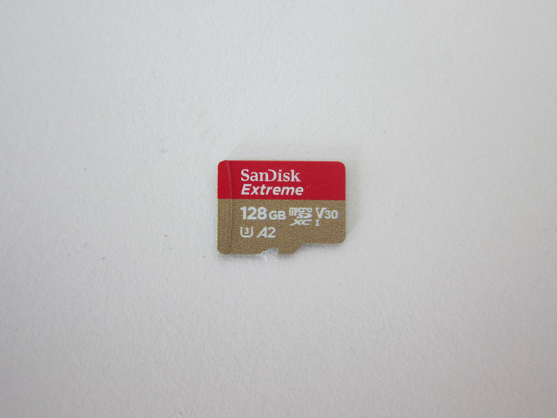 SanDisk Extreme 128GB MicroSDXC Card - Front