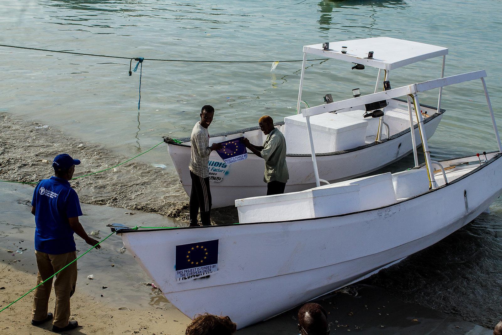 Handover fishing vessels in Bossaso