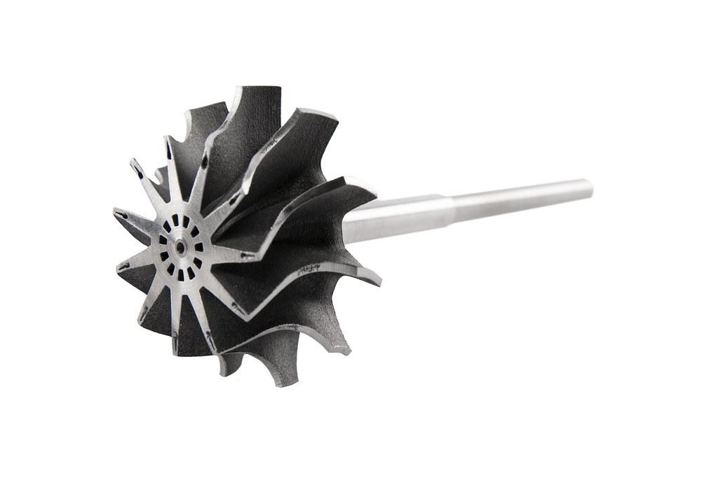 3D image of a Radial turbine wheel