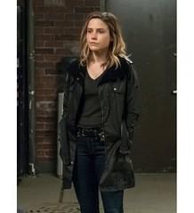 Chicago P.D Erin Lindsay Sophua Bush Black Leather Coat