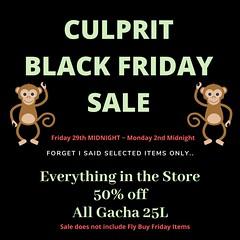Culprit Black Fri Sale