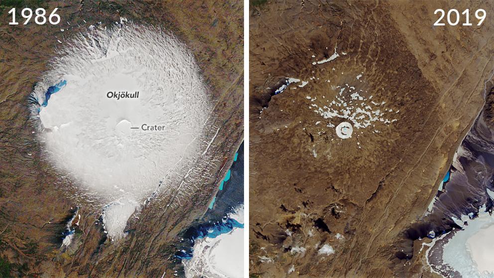 Glaciar islandés se derrite