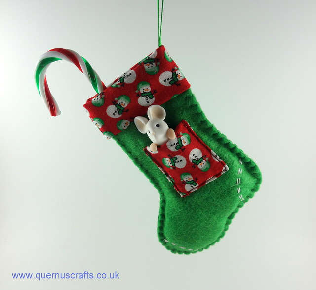 Little Mouse in Christmas Stocking