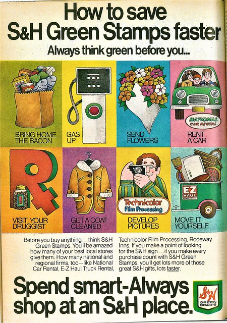 S&H Green Stamps ad, 1972