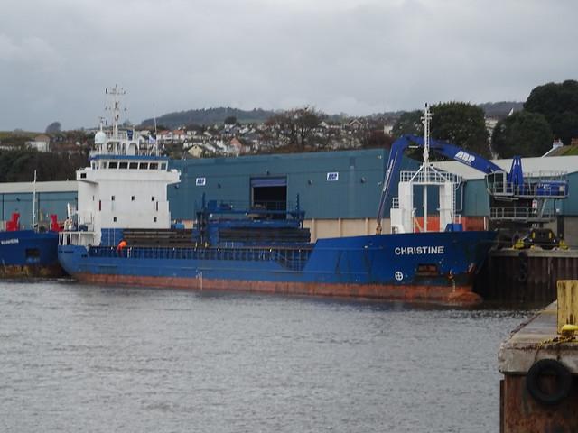 M.V. CHRISTINE (IMO: 9184811) AIS Vessel Type: General Cargo-Call Sign: V2PX5 (MMSI: 304010973) LOHMANN BEREEDERUNGEN - HAREN EMS, GERMANY