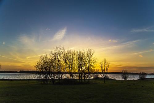canon6d sunset landscape sky blue gold nature outdoors outside uk cambridgeshire