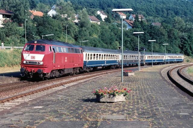 DB 215 134-8 te Bitburg-Erdorf op 4-8-1994 (SCAN)