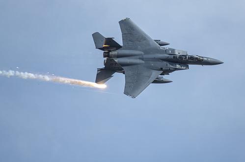 F-15E Letting a Flare Go