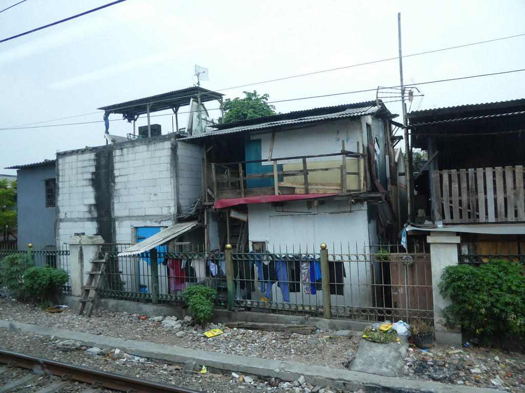 Track side properties on the outskirts of Jakarta