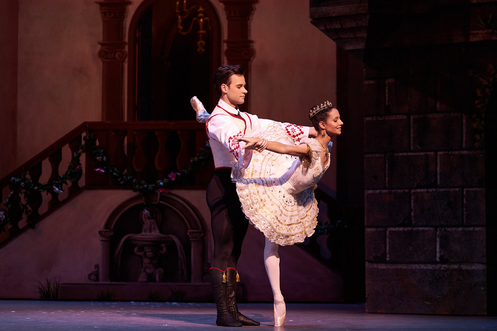 Alexander Campbell as Franz and Francesca Hayward as Swanilda in Coppélia, The Royal Ballet ©2019 ROH. Photograph by Bill Cooper