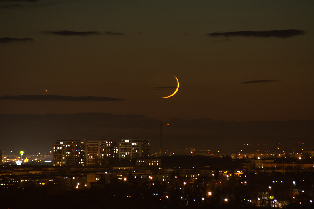 Venus, Moon and Jupiter conjunction