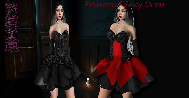 2GIFT!Princess Fancy Dress Red