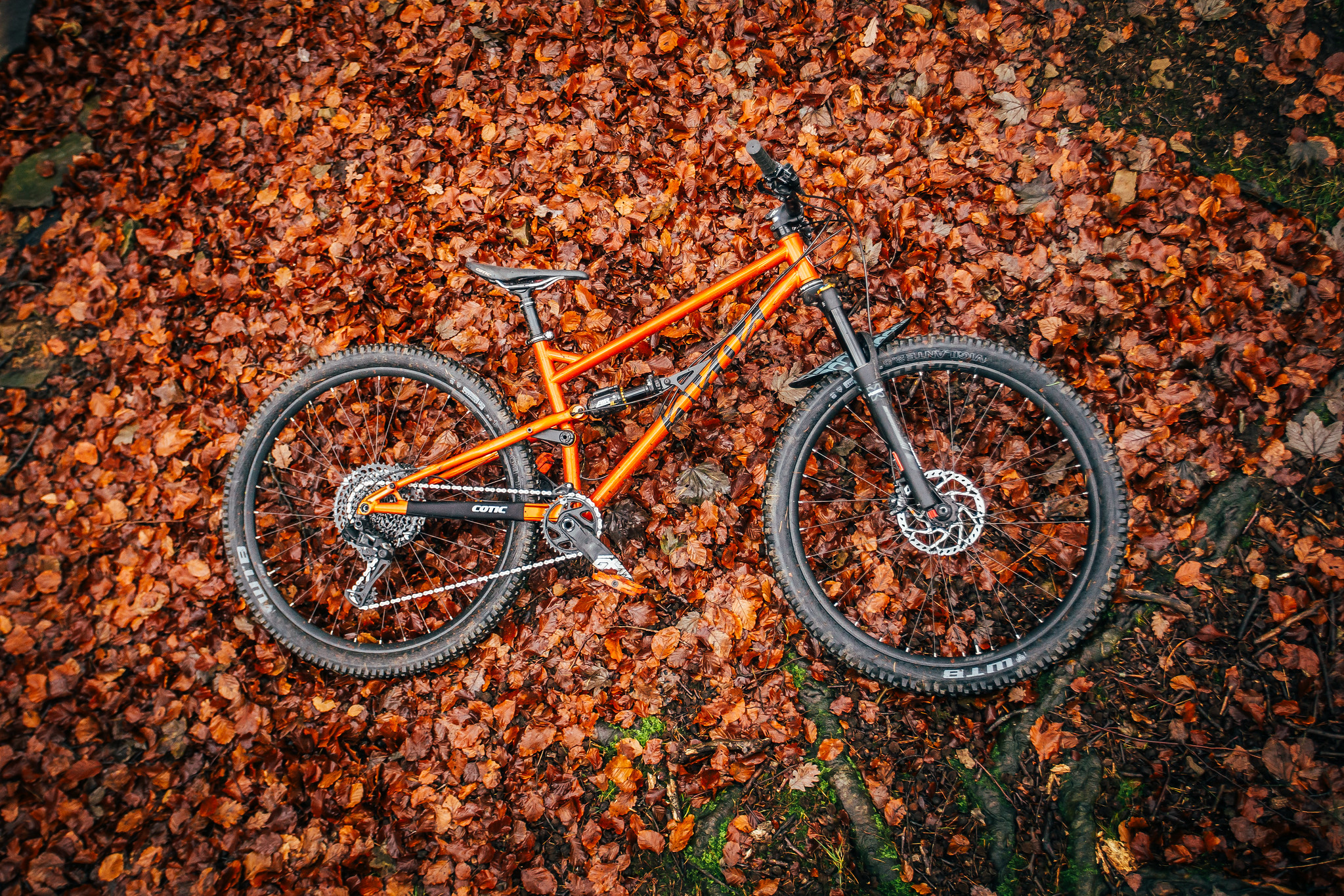 2020 Cotic FlareMAX, steel full suspension, what 29er trail bike?, 29er trail bike, 125mm travel, Reynolds 853, supernova orange